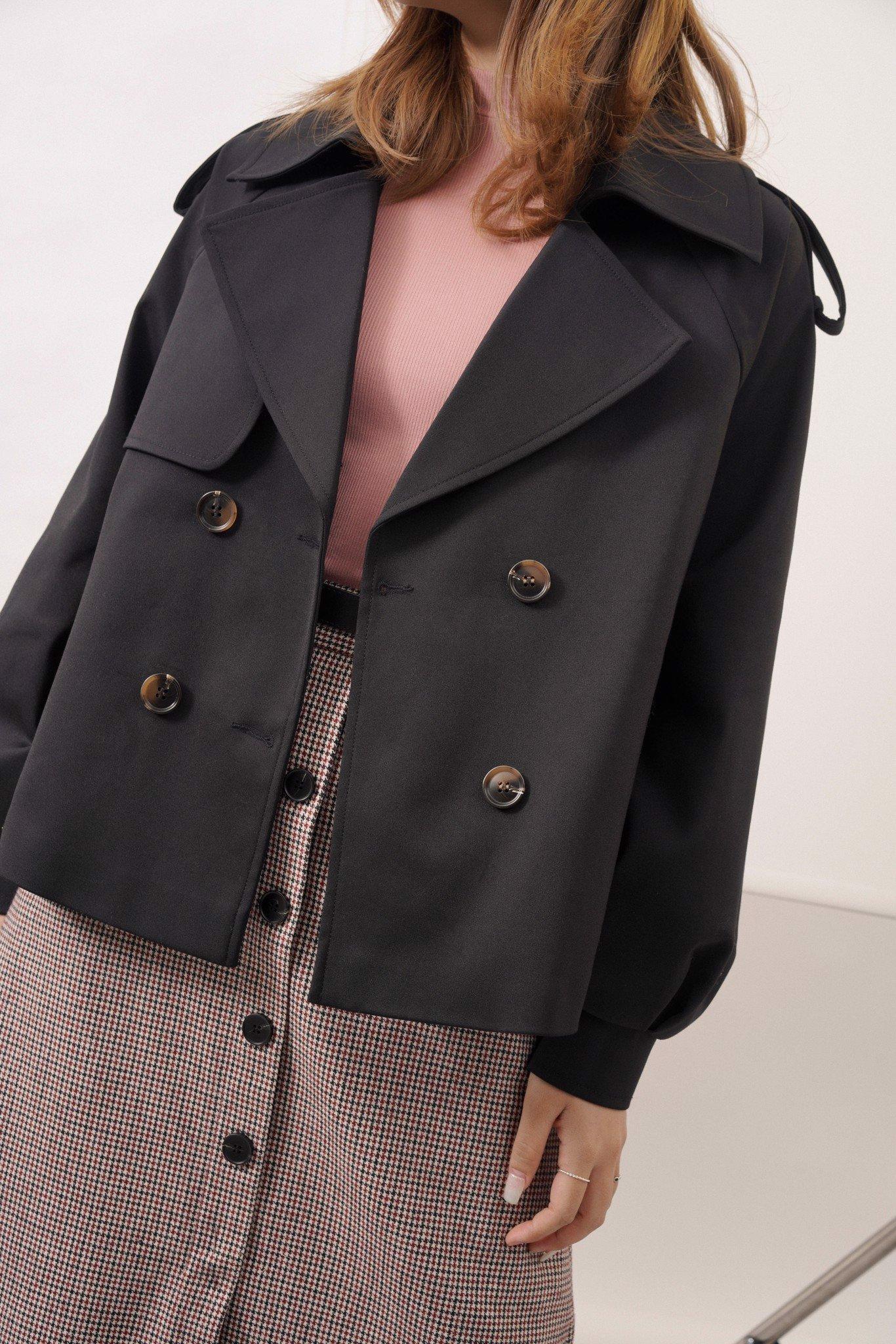 Áo khoác Trench coat ngắn tay raplang 0KH4016 ADORE DRESS