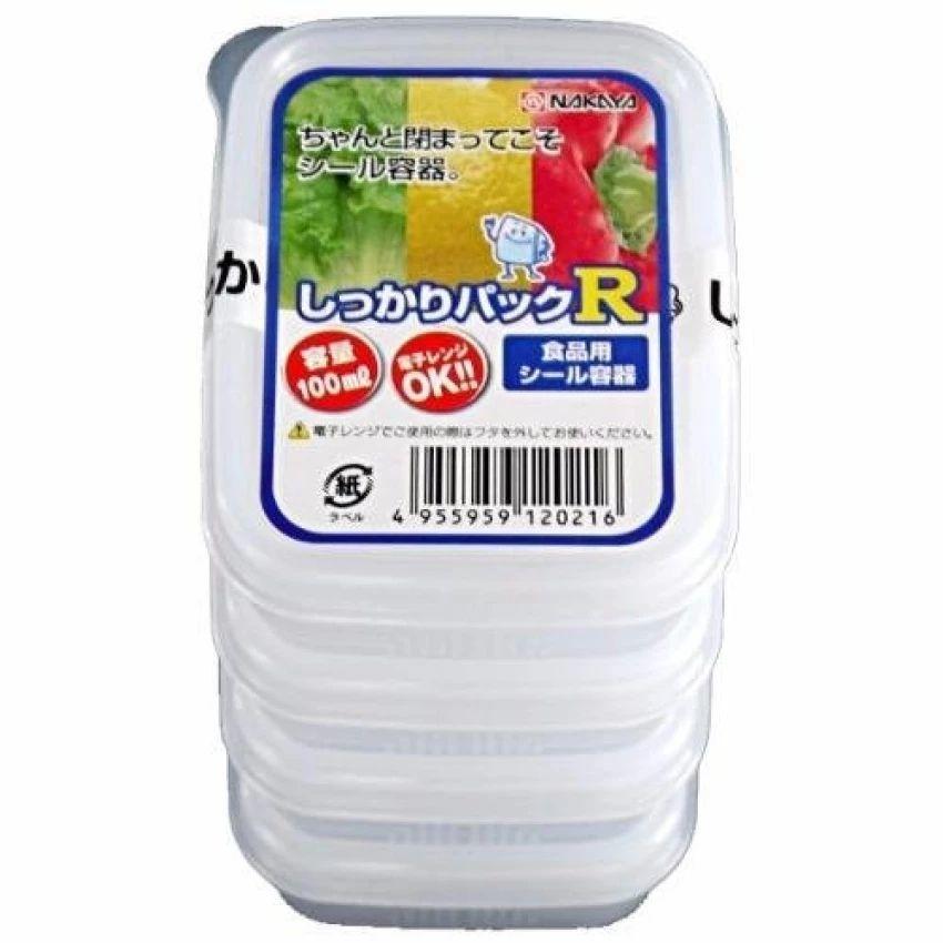 Hộp Nhựa Dùng Được Trong Lò Vi Sóng 100ml Nhật Bản (4 Hộp)