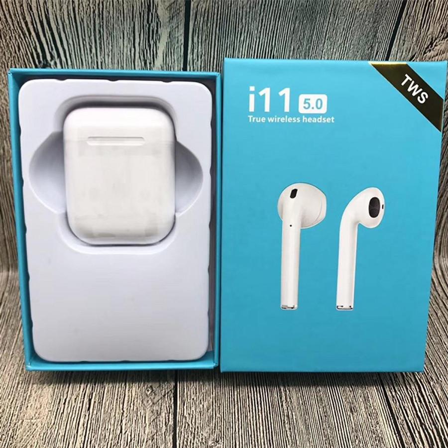 Tai Nghe Bluetooth i11 TWS 5.0 True wireless headset Cảm ứng - Hàng chính hãng