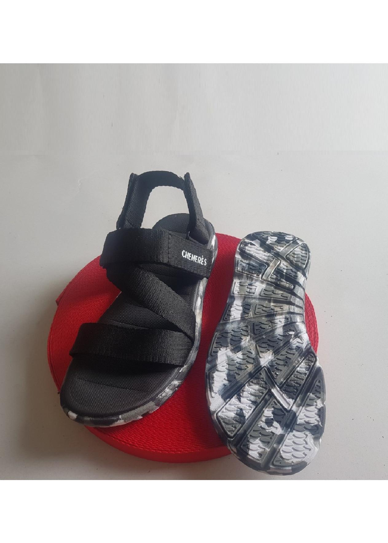 Giày Sandanl Chemeres đế camo mã TP50- Đen