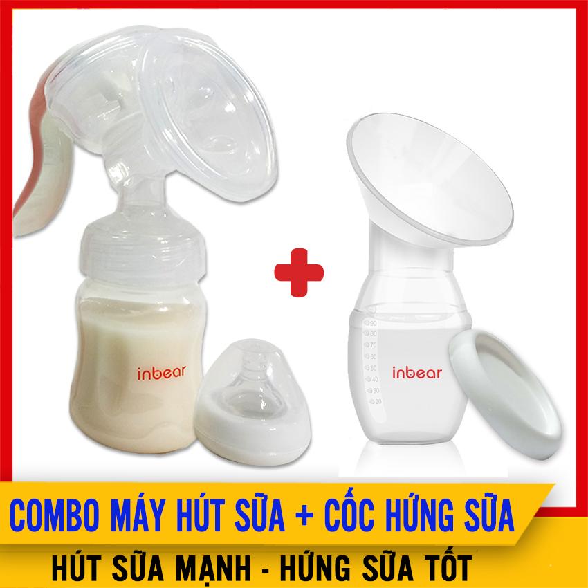 [COMBO] Máy Hút Sữa Bằng Tay Inbear Và Cốc/Phễu Hứng Sữa Inbear Nature - Hút Sữa Mạnh, Hứng Sữa Tốt, Kích Thích Tia Sữa, Tăng 30% Sữa Mẹ Sau Sinh