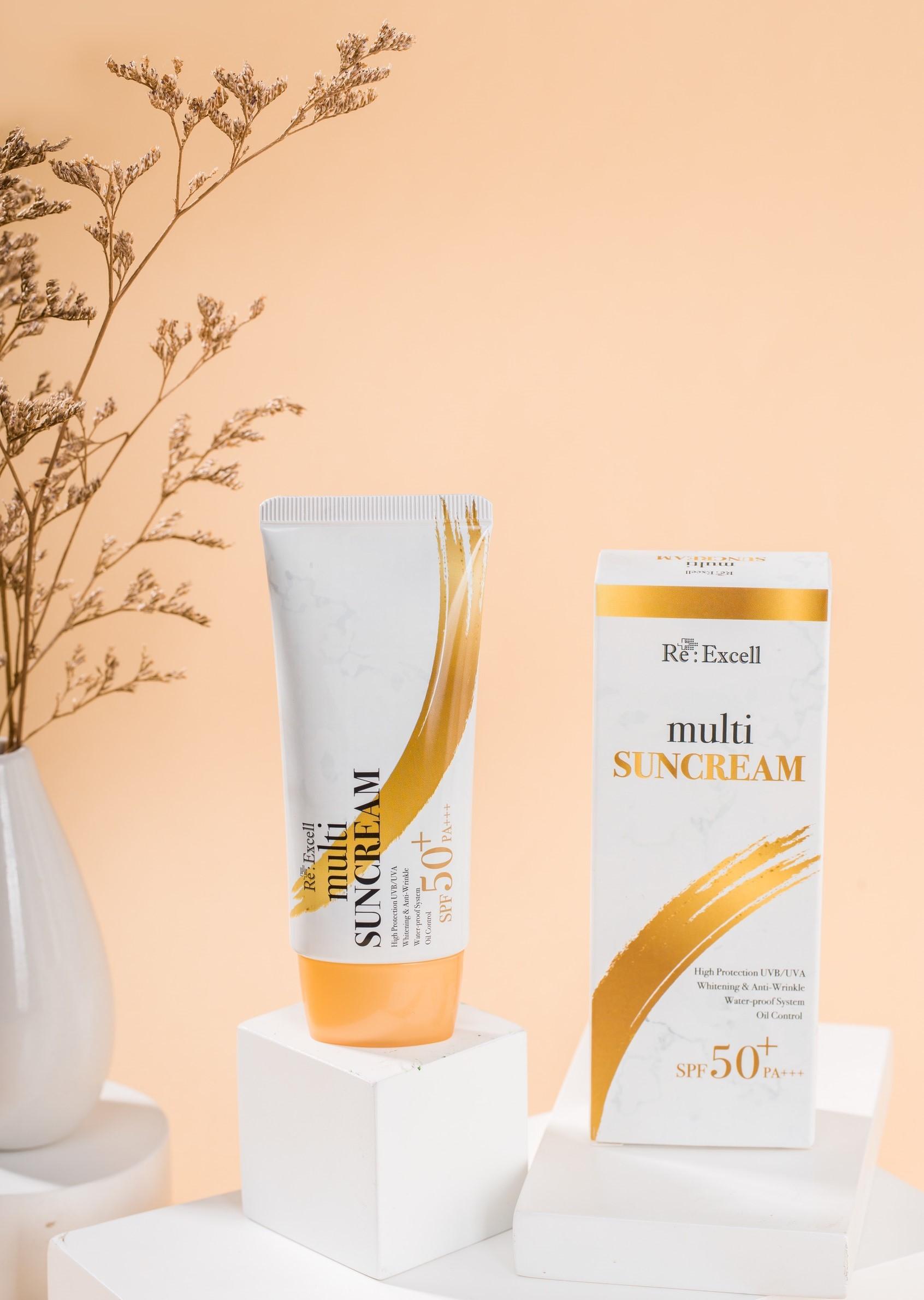 Combo 7 hộp Kem Chống Nắng Re:Excell Multi Sun Cream SPF 50+/ PA+++ sản phẩm nhập khẩu chính ngạch Hàn Quốc