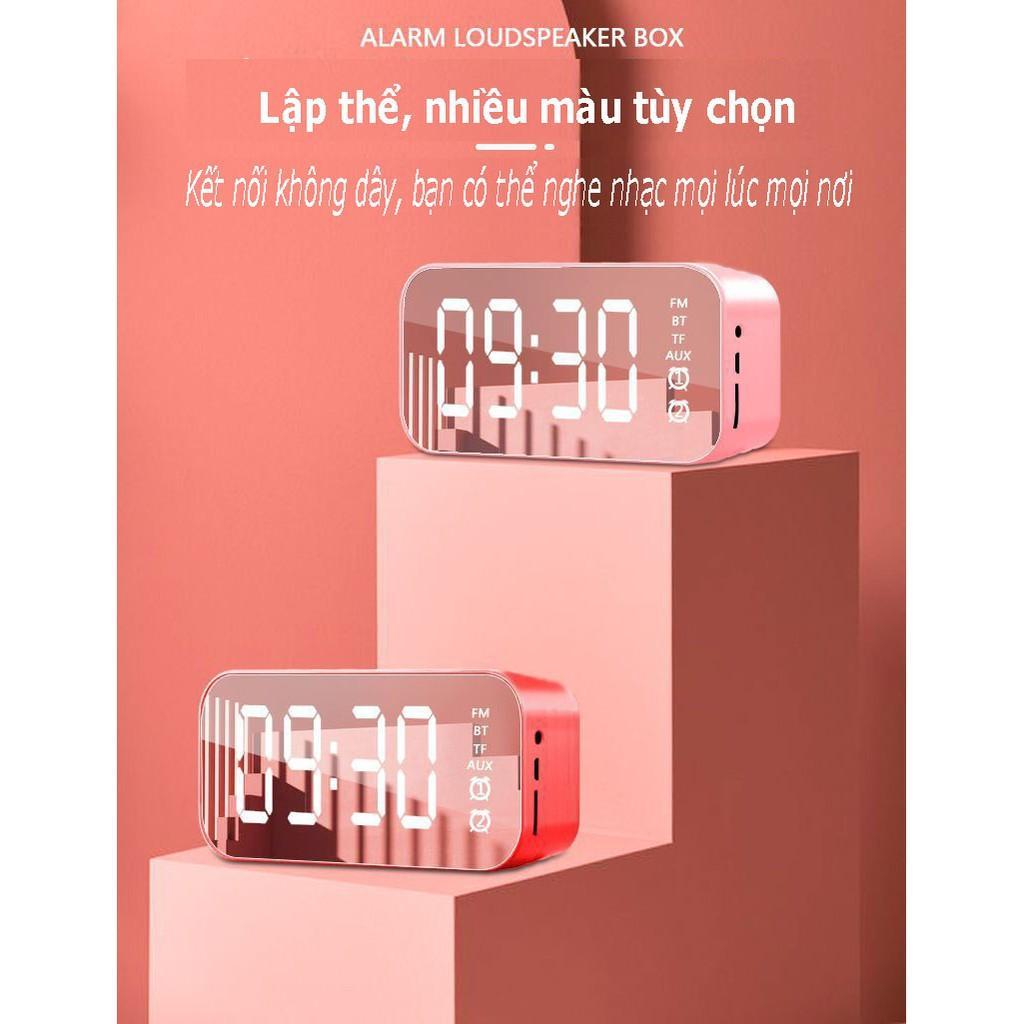 Loa Đồng Hồ AEC BT501 Mặt Gương Hiển Thị Đèn Led - Loa Bluetooth - Đài FM - Đồng Hồ Báo Thức 3 in 1