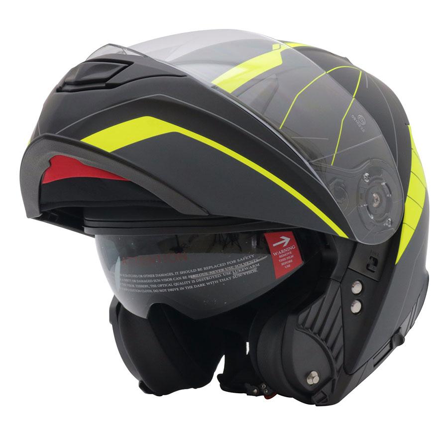 Mũ Bảo Hiểm Lật Hàm Yohe 950 - Đen Xanh Lá