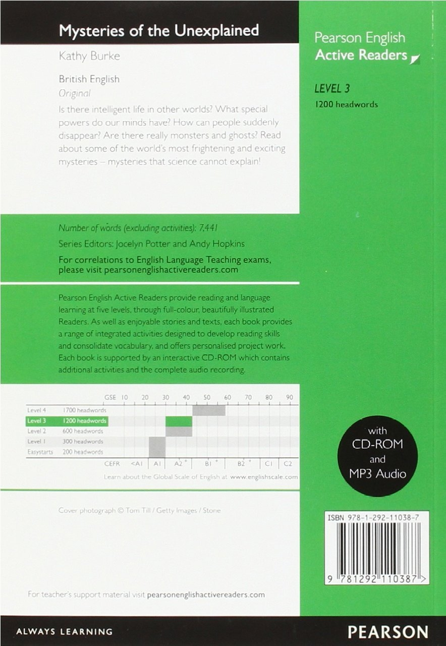 Level 3: Mysteries Of The Unexplained Book And Multi-ROM With MP3 Pack (Pearson English Active Readers)
