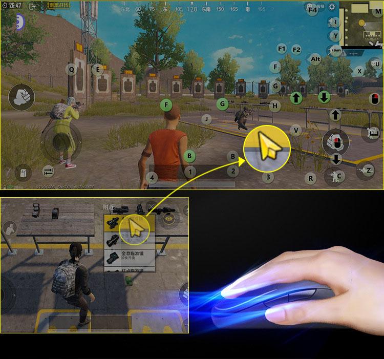 Battle dock X2 bộ chuyển đổi chơi game PUBG Mobile , AoV , Mobile Legends , RoS, Knives Out, Free Fire