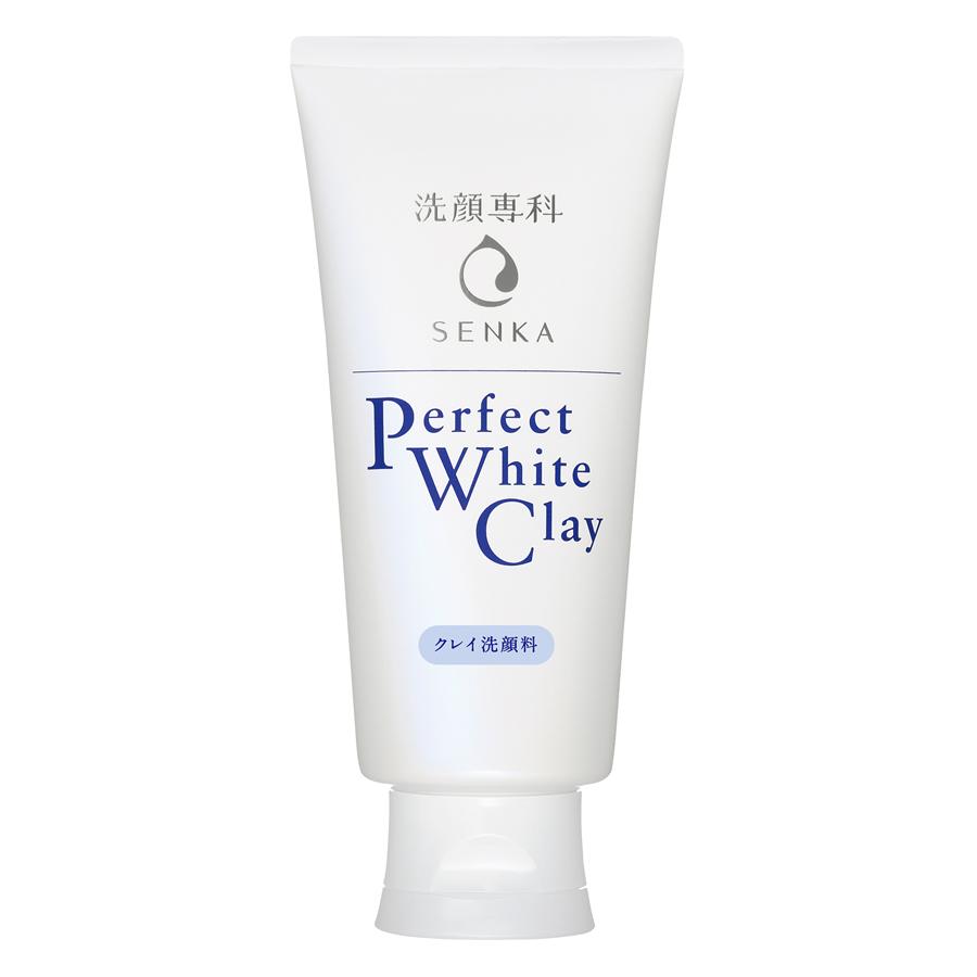 Hình ảnh Sữa Rửa Mặt Tạo Bọt Chiết Xuất Đất Sét Trắng Senka Perfect White Clay New 14840 (120g)