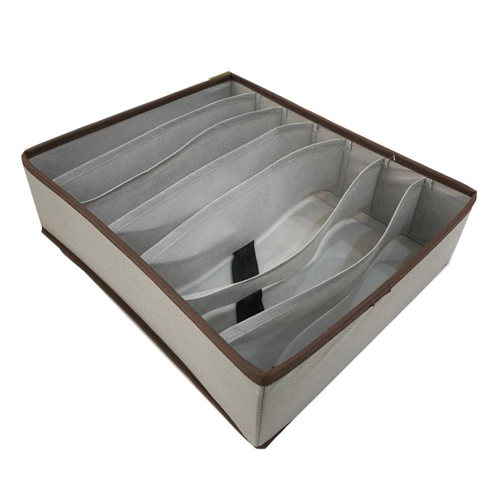 Set 3 hộp đựng đồ lót chia ngăn tủ gấp gọn tiện lợi