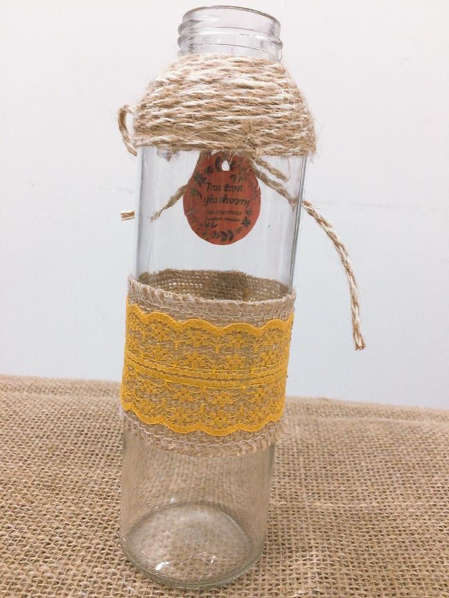 Bình cắm hoa thủy tinh handmade bình đính nút