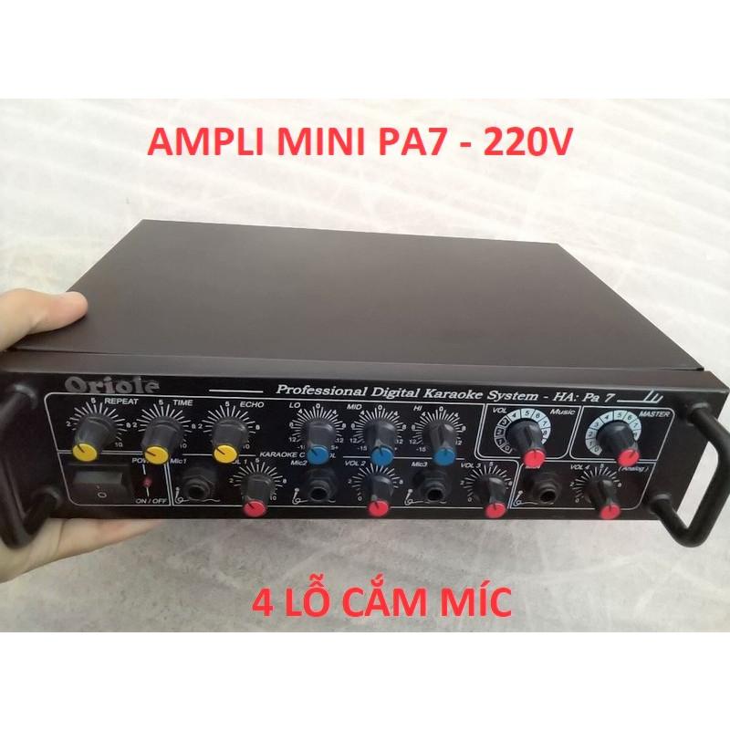 AMPLI MINI PA7 LOẠI CHẠY ĐIỆN 220V - CÔNG SUẤT 250W