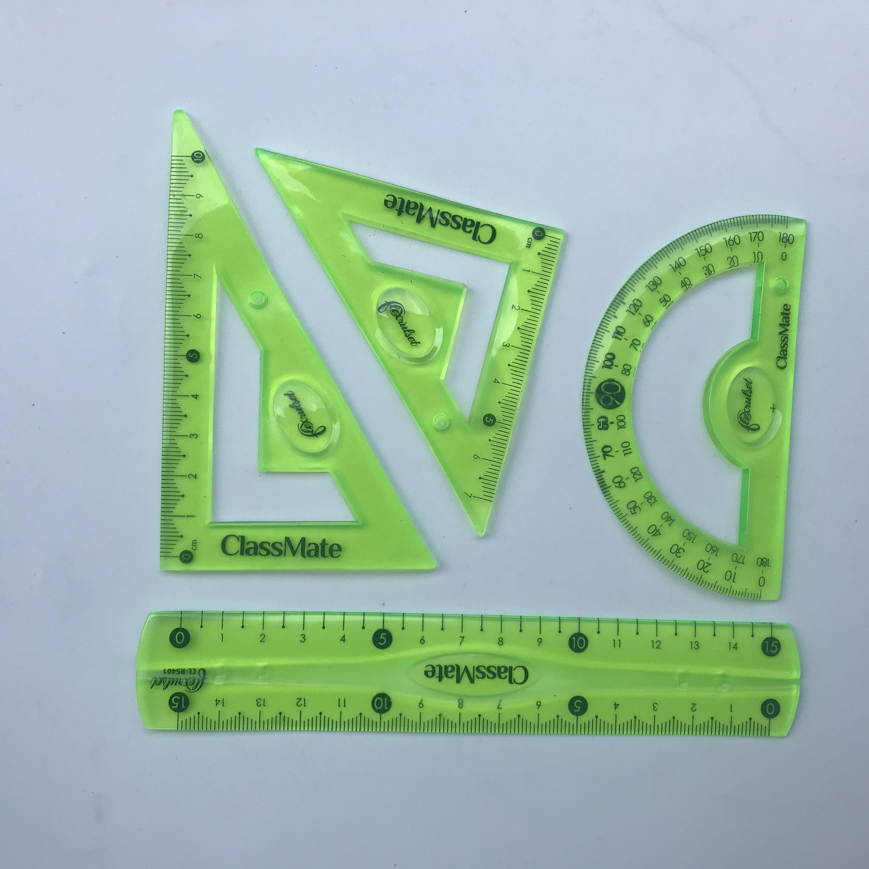 Combo 3 Bộ thước dẻo 4 món CLASSMATE RS401 (15cm)(màu ngẫu nhiên)