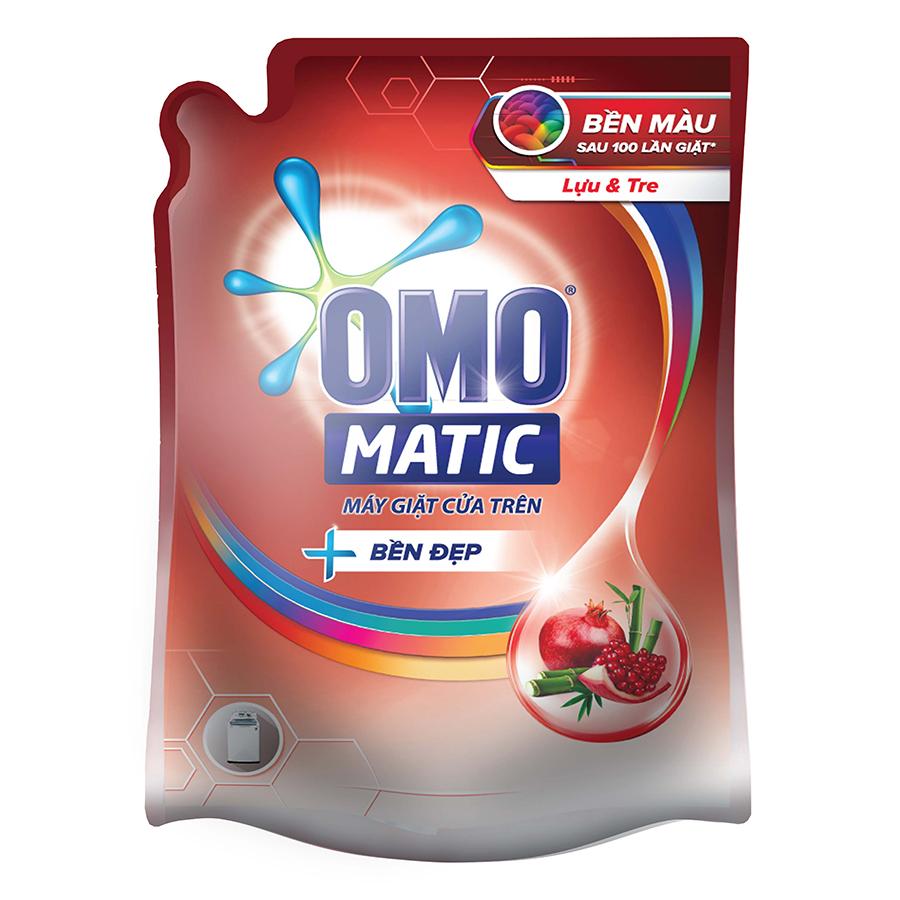Nước Giặt OMO Matic Bền Đẹp Lựu Và Tre Cho Máy Giặt Cửa Trên 2.3kgTúi