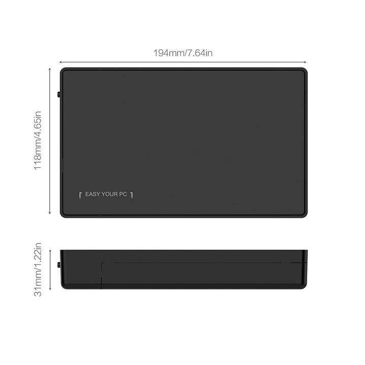 Box ổ cứng 3.5 inch SATA USB3.0 3588US3