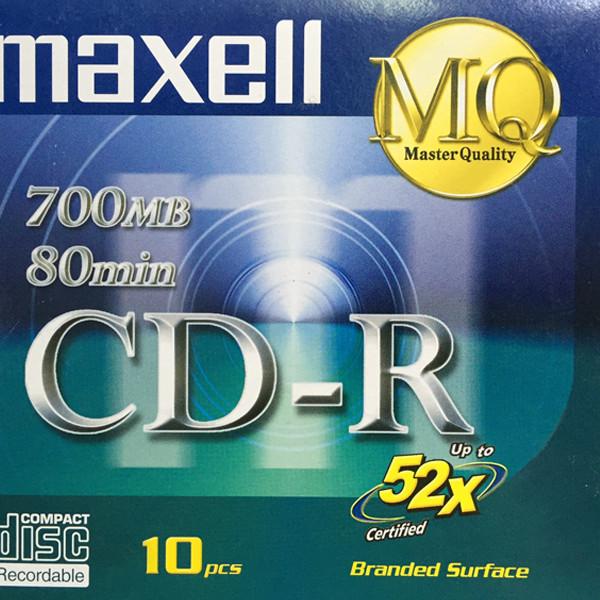 Đĩa CD-R Maxell 700MB - Hàng chính hãng (1 hộp 10 cái - 10 vỏ đựng)