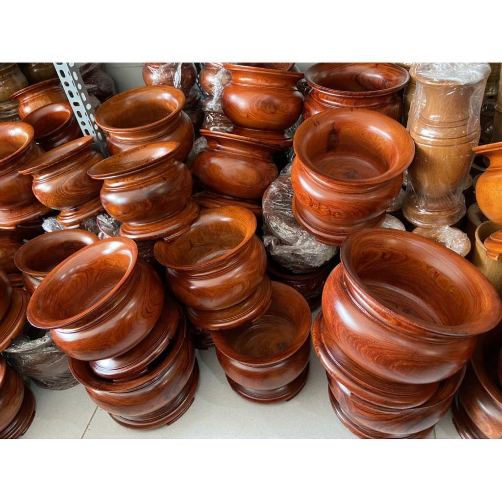 Bát nhang, lư hương gỗ cao cấp - Nhiều kích thước