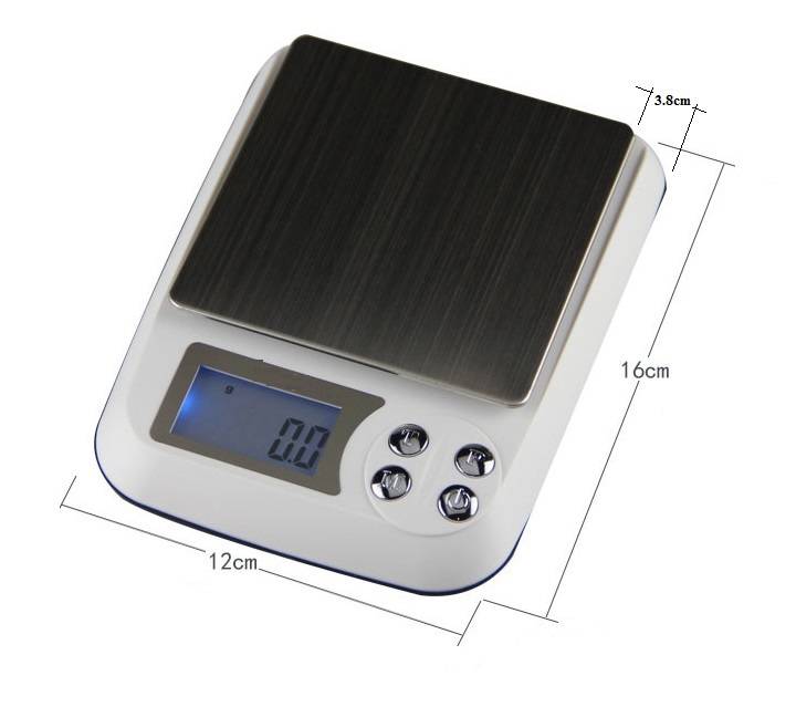Cân tiểu ly 1kg/0.1g cao cấp V2 ( Tặng 03 nút kẹp giữ dây điện )