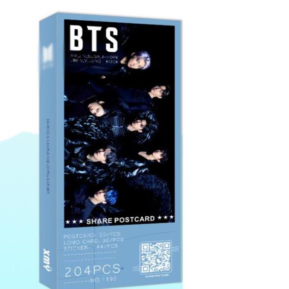 Postcard BTS Map of the Soul 7 version Thiên nga đen tặng vòng tay may mắn