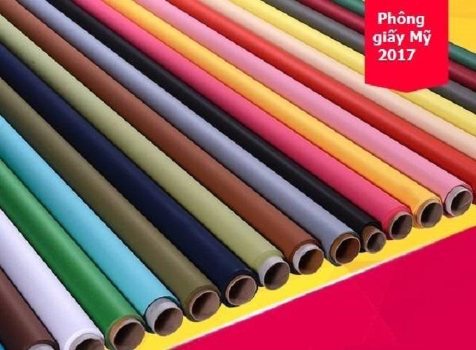 Phông giấy mỹ chụp ảnh studio màu xanh dương mã: 01