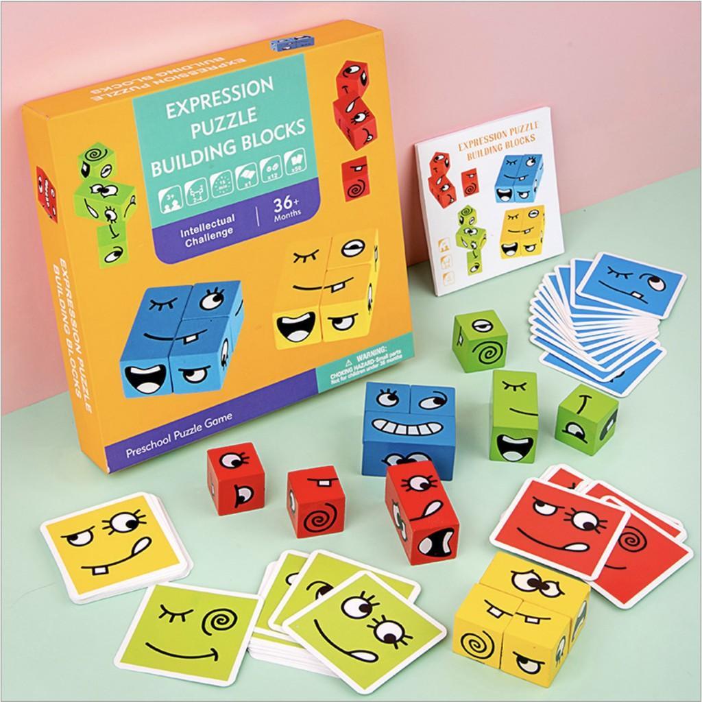 Đồ chơi luyện tập phản xạ tương tác cho gia đình và bé vui chơi EMOTION PUZZLE