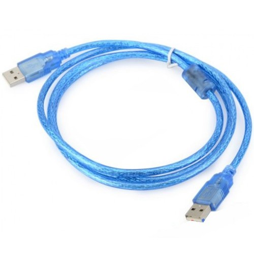 Dây USB 2 Đầu Đực - Dây Xanh ( 1,5M)