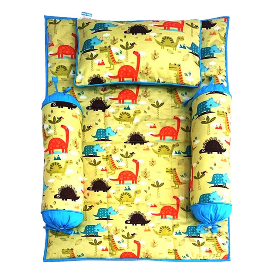 Bộ 4 Món Ga Gối Cho Bé Sleep Baby Colorful Dinosaurs - F127