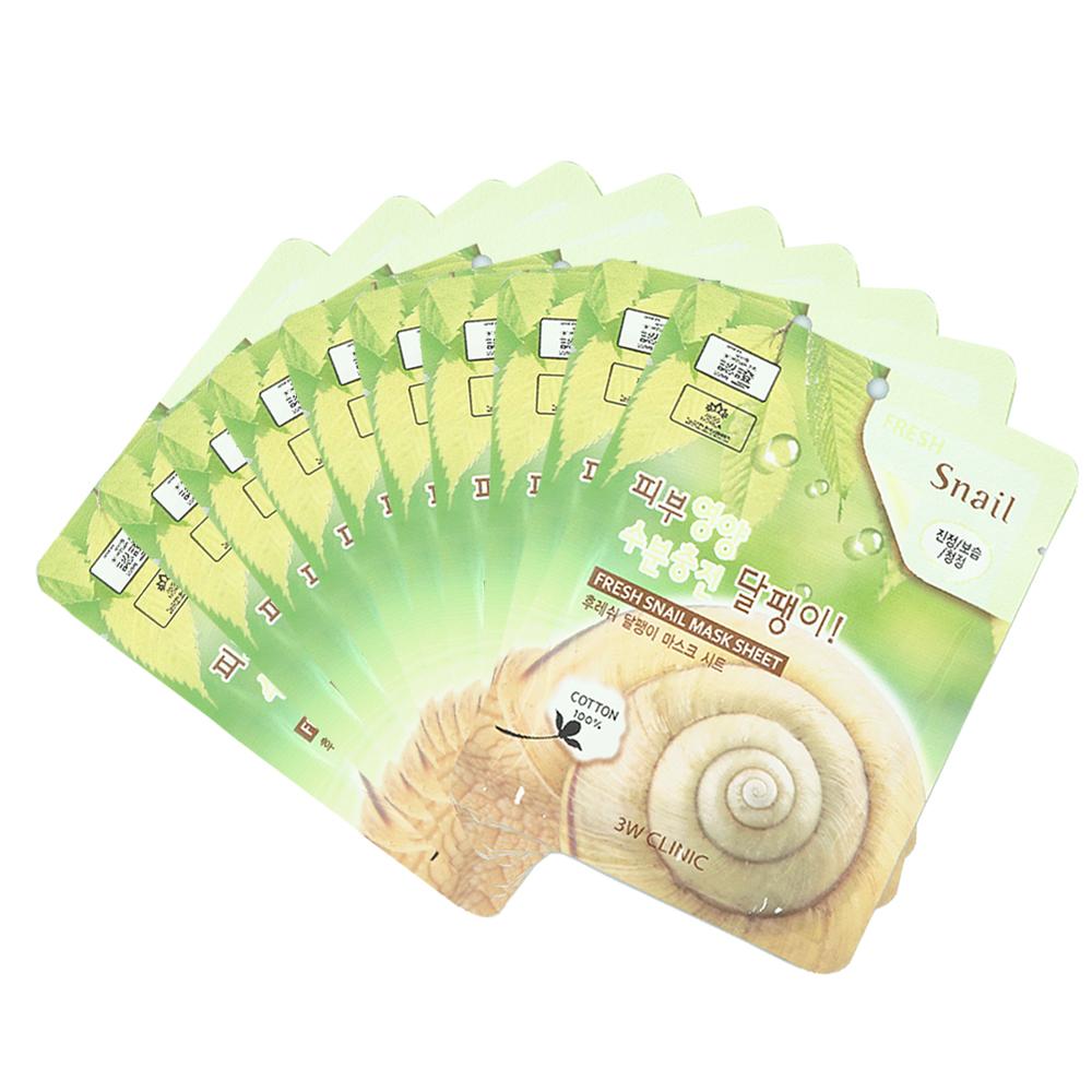 Bộ 10 gói mặt nạ dưỡng ẩm và chống lão hóa chiết xuất ốc sên 3W ...