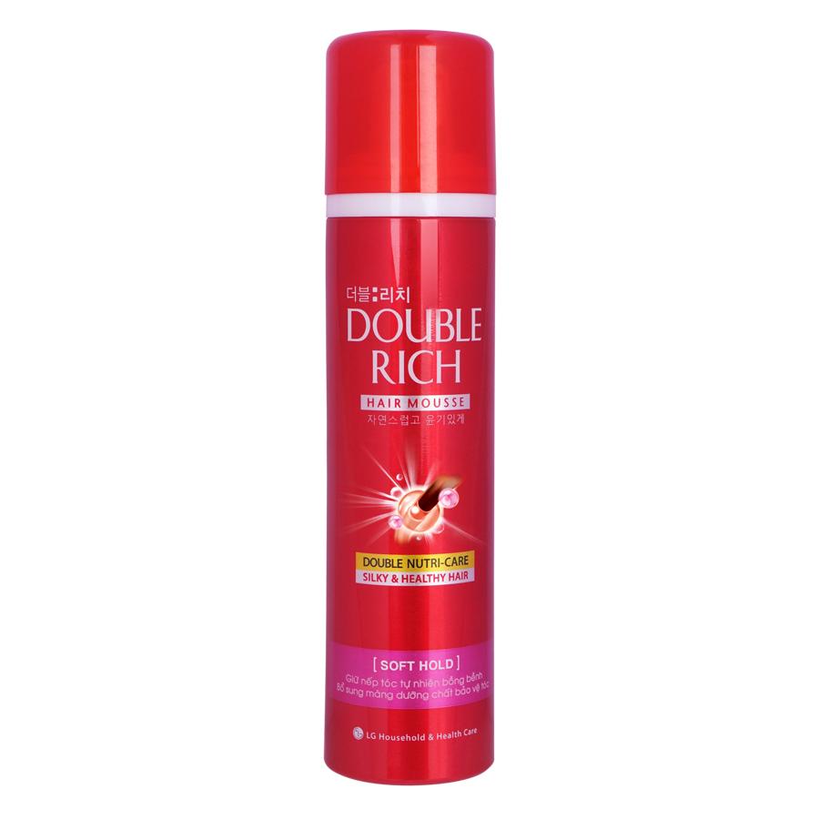 Keo Dưỡng Tóc Giữ Nếp Tóc Thẳng Double Rich Mousse Soft 150ml