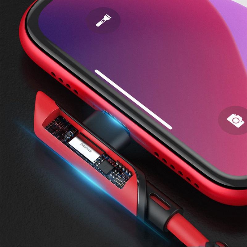 Cáp sạc nhanh PD18W Baseus Colorful Elbow chân Type-C to Lightning dây TPE siêu bền dài 1.2M cho iPhone ( nhiều màu lựa chọn ) - Hàng chính hãng