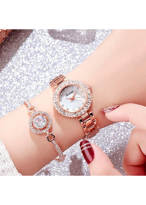 Đồng hồ nữ thời trang kèm lắc tay cưc xinh