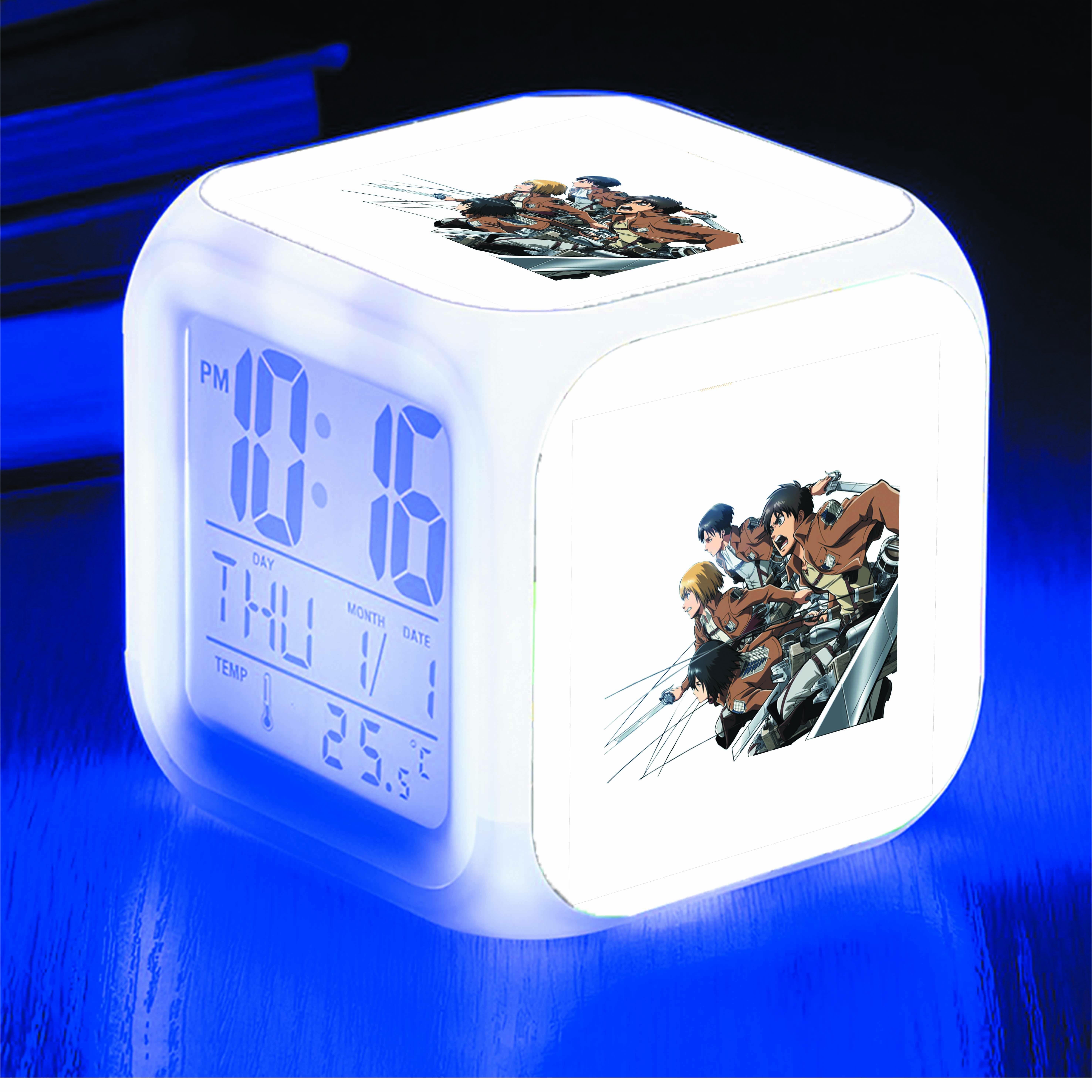 Đồng hồ báo thức để bàn IN HÌNH Attack On Titan anime