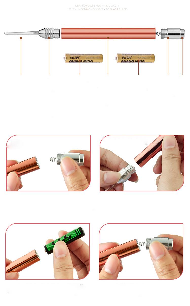 Bộ 7 Dụng Cụ Lấy Ráy Tai Có Đèn LED Bằng Thép Không Gỉ Màu Vàng Hồng Chất Lượng Cao [ FULLBOX ] Tặng Kèm 2 Pin AAA + 1 Móc Khóa Mẫu Ngẫu Nhiên