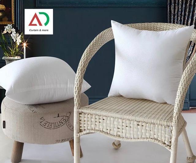 (LOẠI_PHỒNG) Ruột gối tựa lưng trang trí sofa loại bông phồng dày, 45x45cm