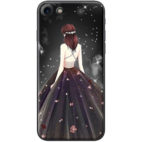 Ốp Lưng Hình Cô Gái Váy Đen Áo Dây Dành Cho iPhone 7  8