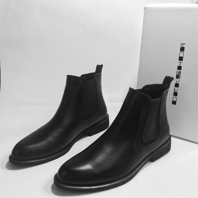 Giày Boot Nam Tăng Chiều Cao Cao Cấp BT28