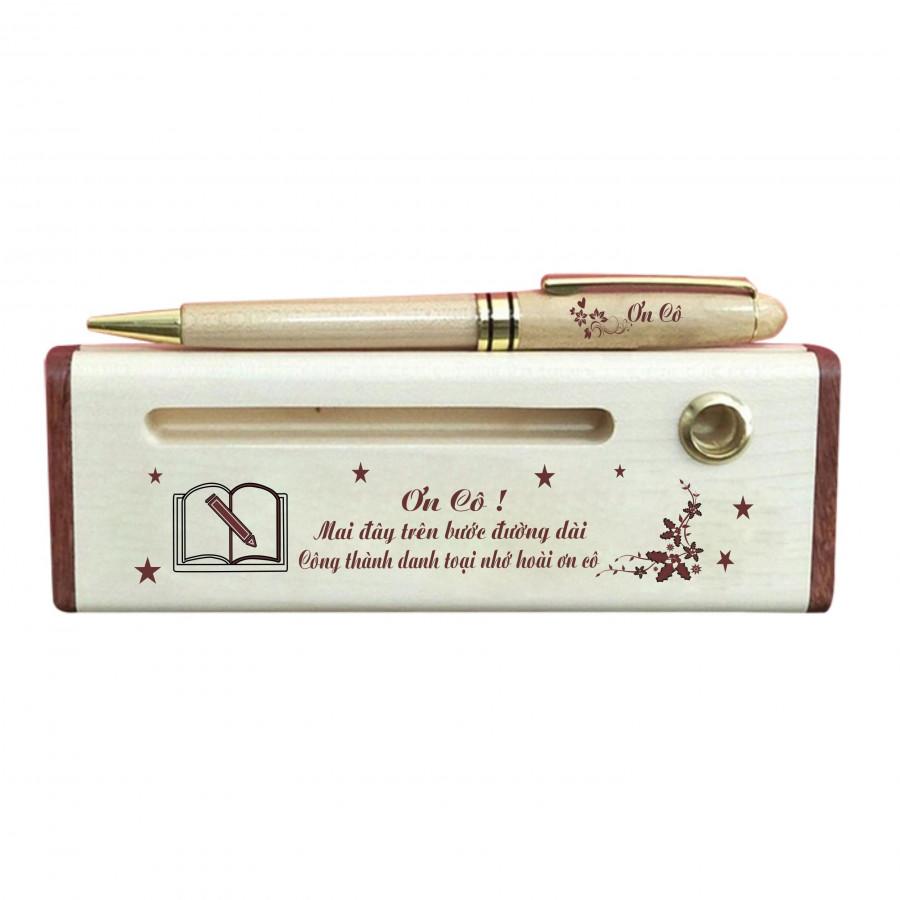 Hộp bút gỗ Quà tặng ngày Nhà Giáo Việt Nam
