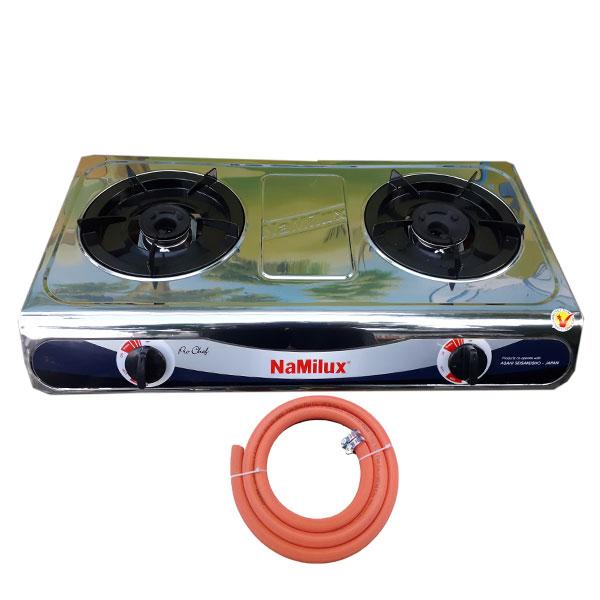 Bếp gas đôi mặt inox Namilux NA-682DSM tặng dây dẫn gas VN Hàng chính hãng