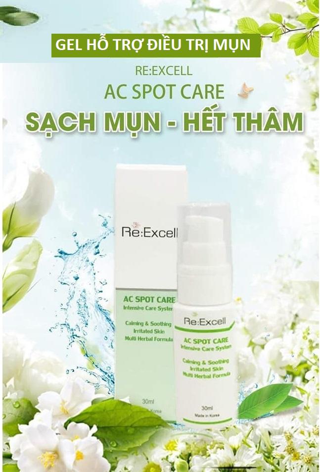 Gel hỗ trợ trị mụn Re:Excell AC Spot Care xuất xứ Hàn Quốc nhập khẩu chính ngạch và phân phối độc quyền