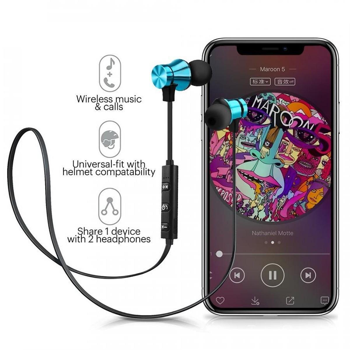 Tai Nghe Bluetooth Nhét Tai Có Dây XT-11 + Tặng Hộp Quẹt Bật Lửa Khò Mỏ Vịt Cao Cấp ( Màu Ngẫu Nhiên)