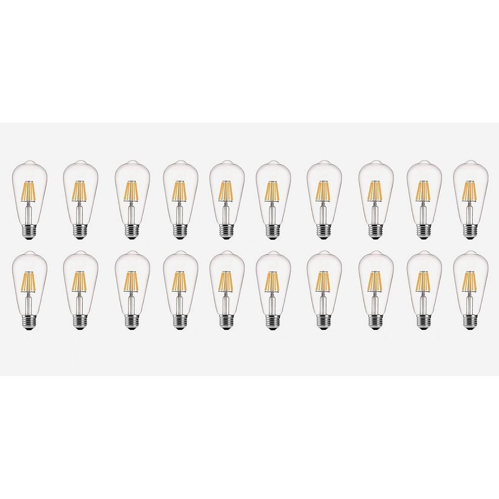 Bộ 20 bóng đèn Led Edison ST64 6W đui E27 hàng chính hãng.