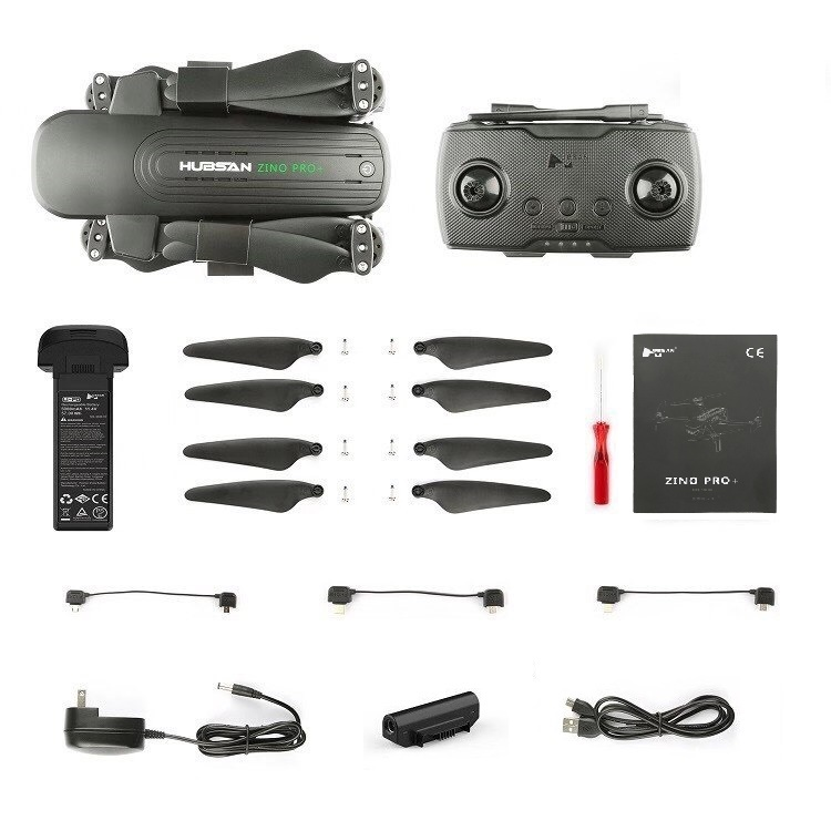 Flycam Hubsan Zino Pro Plus Gimbal 3 trục Camera 4K  - 8km 43 phút bay  - hàng Chính hãng