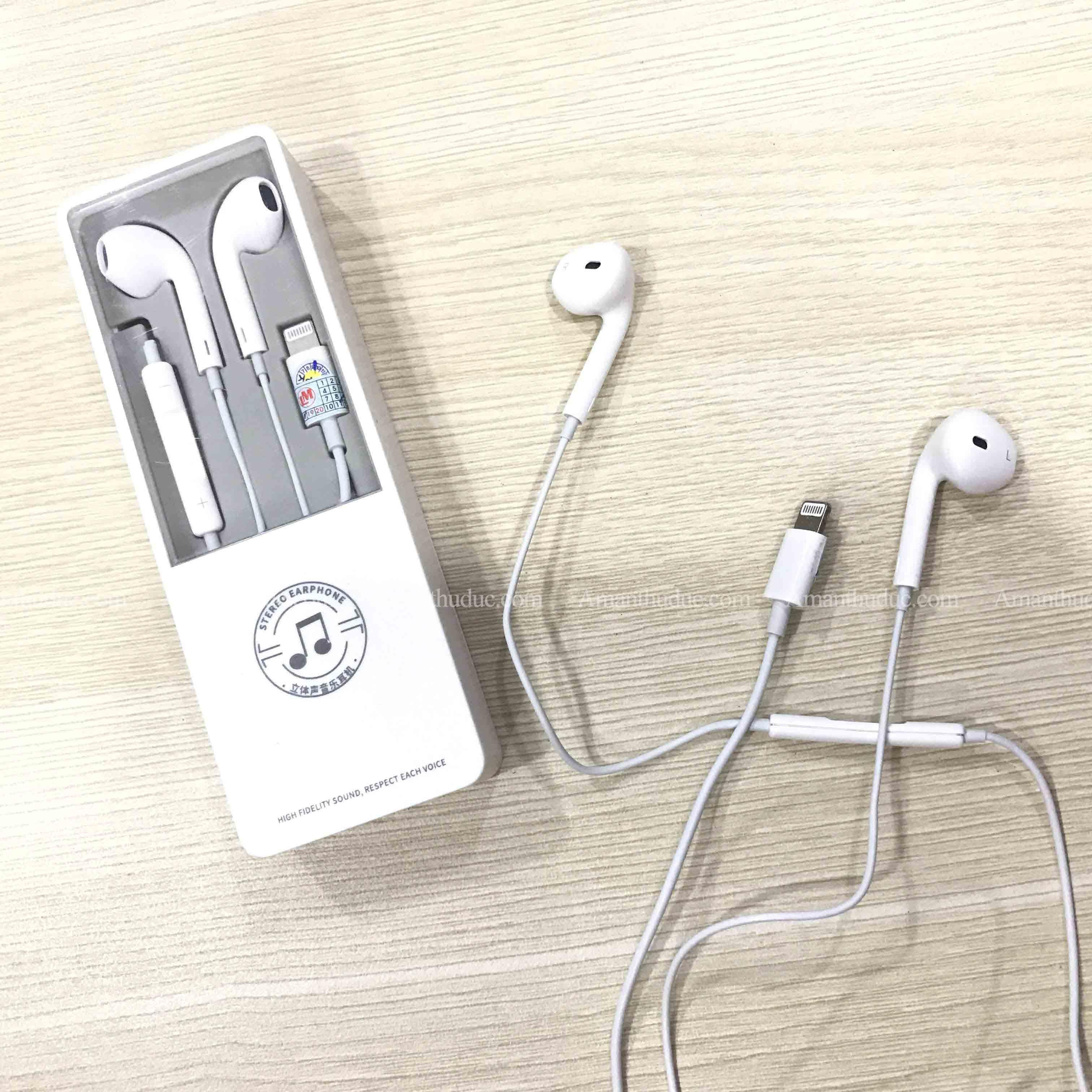 Tai Nghe Nhét Tai Dành Cho IPHONE 7/7Plus - 8/8Plus - X/XsMax Kết Nối Bluetooth