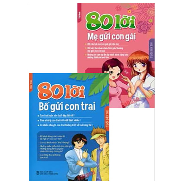Combo 80 Lời Bố Gửi Con Trai - 80 Lời Mẹ Gửi Con Gái