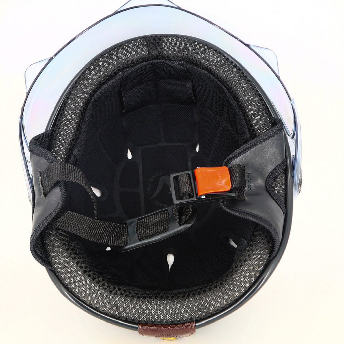 Mũ bảo hiểm nửa đầu viền đồng Có Kính SRT chống tia UV cao cấp - Màu Đen