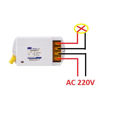 Công tắc điều khiển từ xa Honest HT-6220KGD công suất lớn 220v 40A 1000m dùng cho máy bơm ,moto điện..
