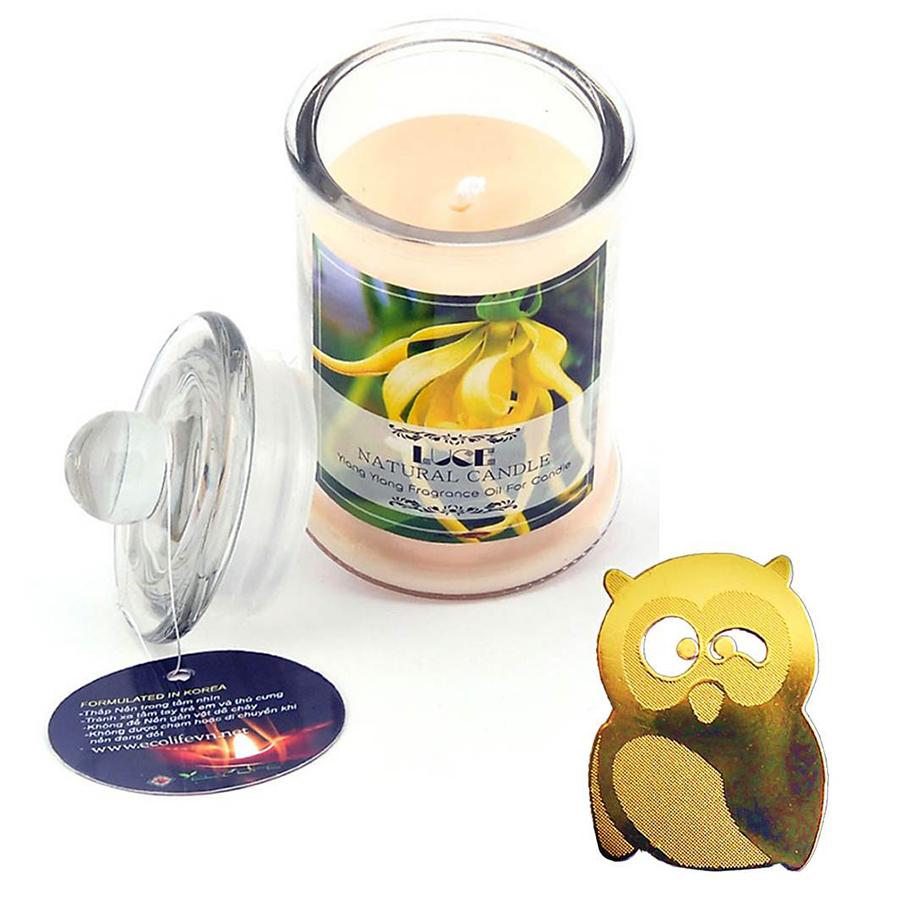 Nến thơm lọ thủy tinh ngọc lan không khói Ecolife - Aroma Candles Ylang Ylang Jar