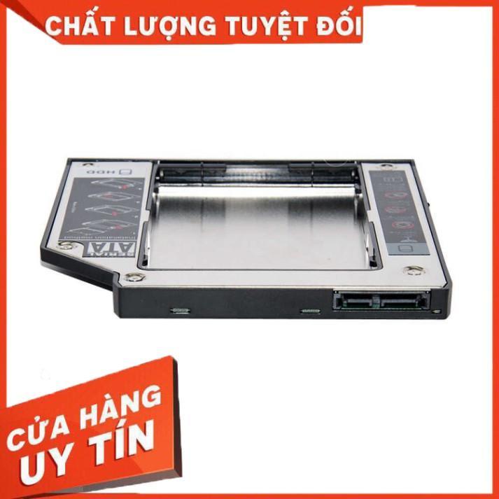 """Caddy Bay mỏng 9.5mm Sata3 cho SSD và HDD 2,5"""" - Vỏ Nhựa – Size: 9.5mm – Khay ổ cứng thay thế ổ DVD"""