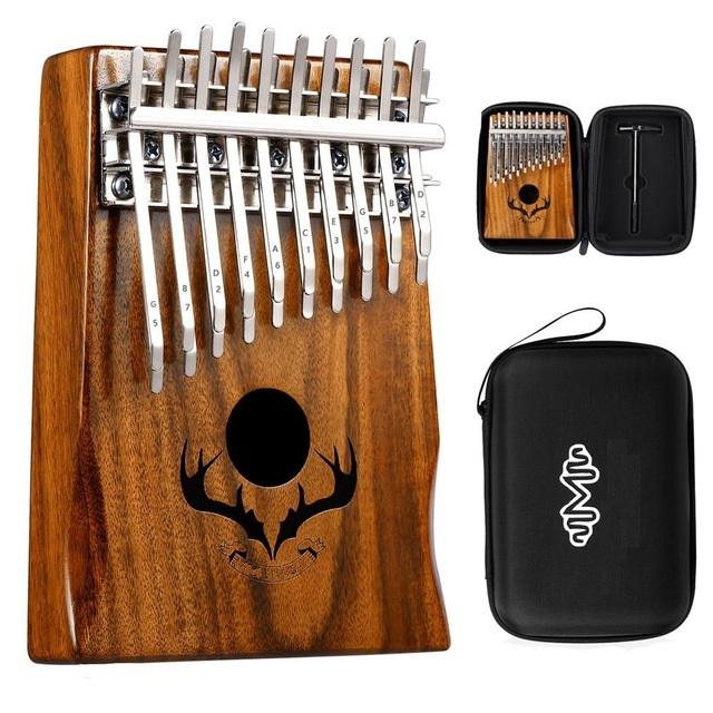 Đàn kalimba 20 phím gỗ nguyên khối Mahagony tặng hộp chống sốc bảo vệ đàn cao cấp- IME-67862MS001