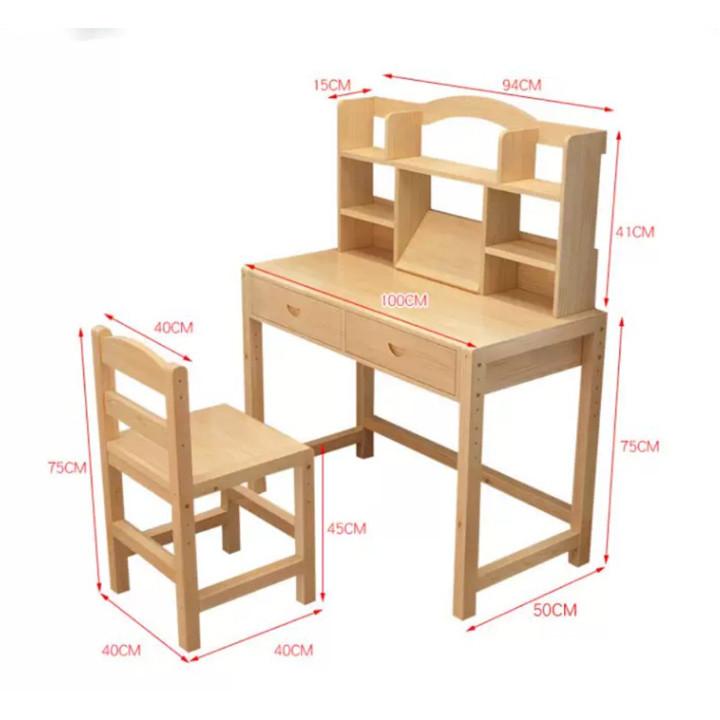Bộ bàn ghế học sinh - Bàn học có giá sách,ngăn kéo học sinh