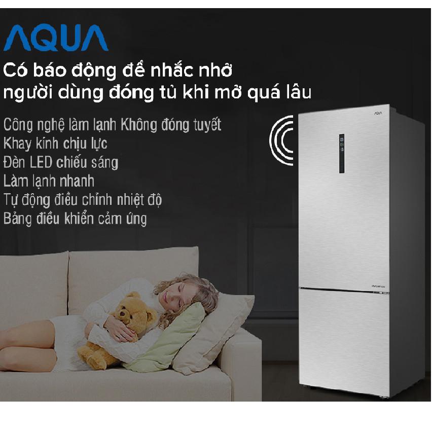 TỦ LẠNH AQUA AQR-I465AB (SW) - HÀNG CHÍNH HÃNG