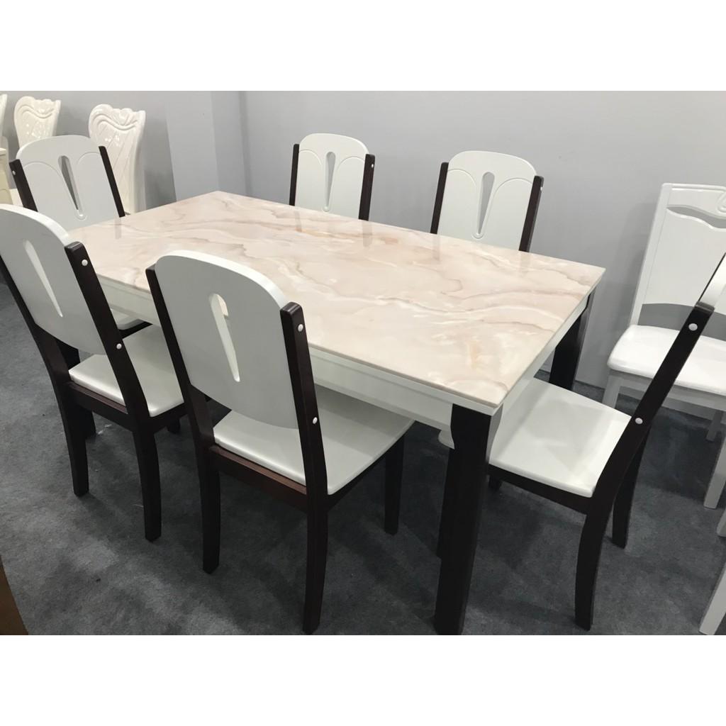 Bộ bàn ăn gỗ tự nhiên mặt đá nhập khẩu cao cấp giá rẻ tại HCM TD-MDC25-16